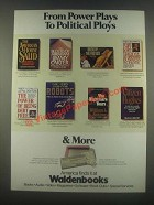 1985 Waldenbooks Book Store Ad - Power Plays