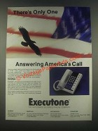 1985 Executone Telephone Ad - There's Only One