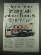 1985 Barron's Newspaper Ad - Invest Wisely