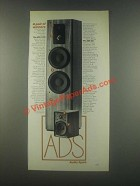 1985 ADS L1290 and 300 Speakers Ad - Pair of Winners
