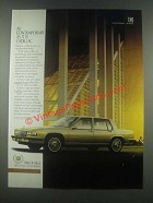 1986 Cadillac De Ville Ad - As Contemporary As It Is