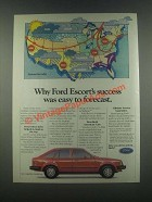 1985 Ford Escort Ad - Success Was Easy to Forecast