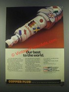 1985 Champion Spark Plugs Ad - Our Best to the World
