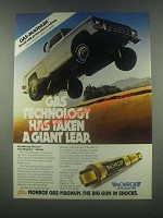 1985 Monroe Gas-Magnum Shocks Ad - Gas Technology