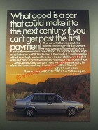 1985 Volkswagen Jetta Ad - What Good Is a Car