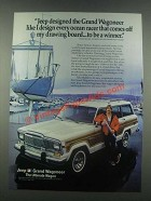1985 Jeep Grand Wagoneer Ad - Every Ocean Racer