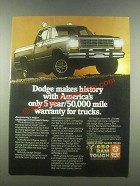 1985 Dodge Pickup Truck Ad - Makes History