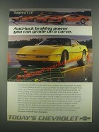 1985 Chevrolet Corvette Ad - Grade on a Curve