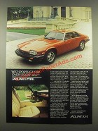 1985 Jaguar XJ-S Ad - Best Sports/GT Car Over $25,000