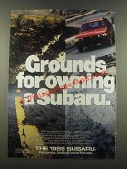 1985 Subaru Cars Ad - Grounds for Owning a Subaru