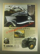 1985 Canon A-1 Camera Ad - See Beyond the Ordinary