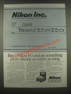 1985 Nikon FG Camera Ad - You're Already an Expert