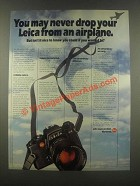 1985 Leica R4 Camera Ad - May Never Drop From an Airplane