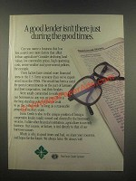 1985 Farm Credit Service Ad - A Good Lender Isn't There Just During Good Times