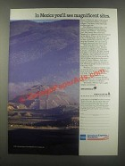 1985 American Express Vacations Aeromexico and Mexicana Airlines Ad