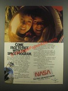 1985 NASA Space and Rocket Center Ad - Come Face to Face
