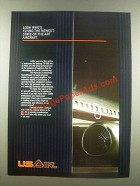 1985 USAir Airline Ad - Flying the Newest, State-of-The-Art Aircraft