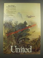 1985 United Airlines Ad - Your Friend in Faraway Places