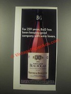 1985 B&G Barton & Guestier Beaujolais Wine Ad - For 259 Years