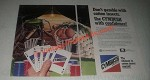 1985 ICI Americas Cymbush Insecticide Ad - Don't Gamble With Cotton Insects
