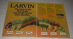 1985 Union Carbide Larvin Ad - Stops one tough worm after another