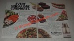 1985 Cuisinart Food Processor Ad - Every Single Day Cuisinarts