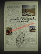 1985 Rolex Oysterquartz Datejust Chronometer Watch Ad - Tom Sheppard