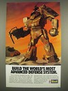1985 Revell Robotech Force Ad - Build the world's most advanced defense system