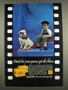 1985 Kodak Kodachrome 25 and 64 Films Ad - Don't Let Greens Get the Blues