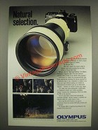 1985 Olympus OM-4 Camera Ad - Natural Selection