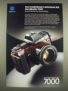 1985 Minolta 7000 Camera Ad - The Revolutionary Autofocus SLR