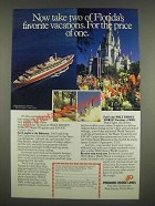 1985 Premier Cruise Lines Ad - Now take two of Florida's favorite vacations