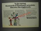 1985 Tennessee Economic & Community Development Ad - Discover the Dogwoods