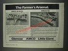 1985 Glencoe Ad - AMCO 30 Series and F-15 tandem Disk Harrows