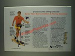 1985 NordicTrack Cross Country Skiing Exerciser Ad - Better than Exercise Bikes