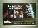 1985 Kraft 100% Grated Parmesan Cheese Ad - Real Italian flavor is within reach