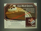 1985 Carnation Evaporated Milk Ad - Chocolate a l'Orange Cheesecake