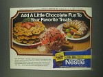 1985 Nestle Little Bits Semi-Sweet Chocolate Ad - Add a Little Chocolate Fun
