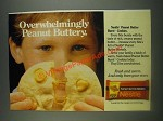 1985 Nestle Peanut Butter Morsels Ad - Overwhelmingly Peanut Buttery