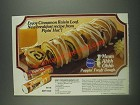 1985 Pillsbury Pipin' Hot White and Wheat Loaf Ad - Cinnamon Raisin Loaf recipe