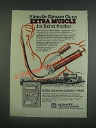 1985 Alemite Model 500 Grease Gun Ad - Extra Muscle