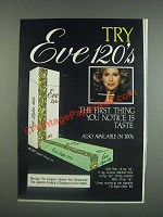 1985 Eve 120's Cigarettes Ad