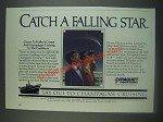 1985 Paquet French Cruises Ad - Catch a Falling Star