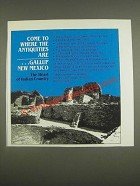 1985 Gallup New Mexico Ad - Come to where the Antiquities are ÉGallup New Mexico