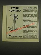 1985 VITA Volunteers in Technical Assistance Ad - Invest Yourself