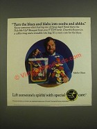 1985 FTD Florists' Transworld Delivery Association Ad - Merlin Olsen - The Blues