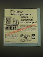 1985 Best Western Macies Ottawan Motel Ad - good things start to happen