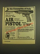 1985 Deer Creek Products Air Pistol Ad - By the gunsmiths of Italy