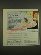 1985 Sir Thomas Lipton's Fortune Cup and Leaf Tea Ad - Tee for Thee