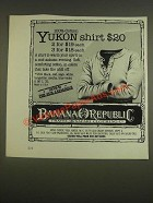 1985 Banana Republic Yukon Shirt Ad